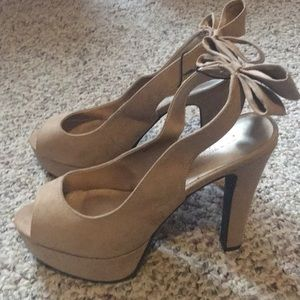 Forever 21 Taupe Sling Backs w/Bow